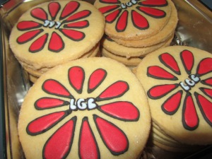 """LGB""School logo cookies"