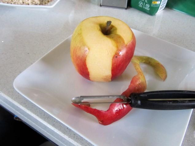 Peel & grate an apple